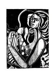 Xilogravura Ref. Di Cavalcante (47 cm x 63 cm) by Cão