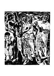 Xilogravura Ref. Di Cavalcante Samba (49 cm x 57cm) by Cão