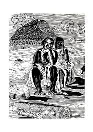 Xilogravura Ref. Portinari- Índia e Negra by Rafael Cão (55 cm x 67cm)