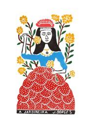 Xilogravura by J. Borges - A Jardineira (Tamanho 66 x 48 cm)