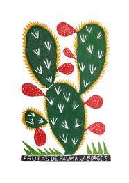 Xilogravura by J. Borges - Fruta de Palma (Tamanho 66 x 48 cm)