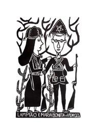 Xilogravura by J. Borges - Lampião e Maria Bonita (Tamanho 66 x 48 cm)