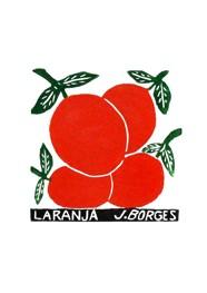Xilogravura by J. Borges - Laranja (Tamanho 33 x 24 cm)
