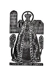 Xilogravura by J. Borges - Nossa Senhora Aparecida (Tamanho 66 x 48 cm)