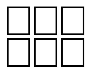 Exemplo de Montagem em Grade para Decoração de Parede