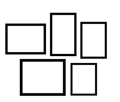 Exemplo de Montagem Solta para Decoração de Parede