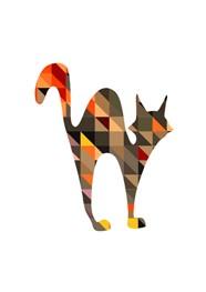 Poster Geométrico Black Cat by Studio Mirabile