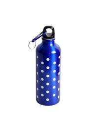 Garrafa em Alumínio Azul com Bolinhas - 500 ml - 22x7x7 cm - Coleção Mirabile Essential