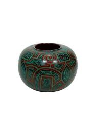Igaçaba Verde Marajoara by Polo Ceramista de Icoaraci (19 cm x 26 cm )