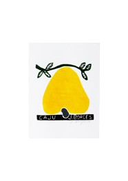 Xilogravura by J. Borges - Caju Amarelo (Tamanho 33 x 24 cm)