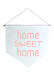 Wall Flag (Estandarte) Rosa Home Sweet Home by Studio Mirabile