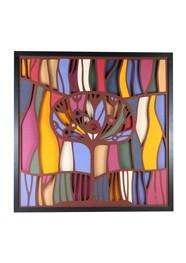 Painel Floresta Mágica 1 by Enrique Rodríguez - 55x55 cm