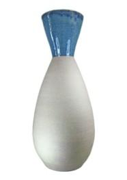 Vaso Cerâmica Natural com Azul by Paula Almeida