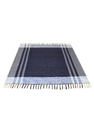 Tapete Azul Escuro com Branco Linha Mirabile Essential by Mirabile Decor (1,5 m x 1,5 m)