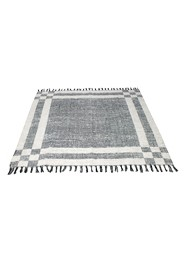 Tapete Branco com Preto Linha Mirabile Essential by Mirabile Decor (1,4 m x 1,4 m)