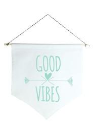 Wall Flag (estandarte) Verde Good Vibes by Studio Mirabile