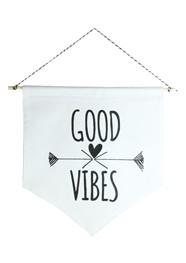 Wall Flag Preta Good Vibes by Studio Mirabile