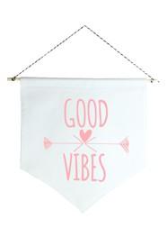 Wall Flag (estandarte) Rosa Good Vibes by Studio Mirabile