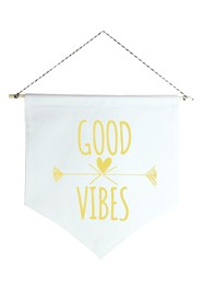 Wall Flag (Estandarte) Amarela Good Vibes by Studio Mirabile