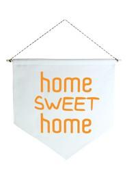 Wall Flag (Estandarte) Laranja Home Sweet Home by Studio Mirabile