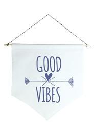 Wall Flag (Estandarte) Azul Marinho Good Vibes by Studio Mirabile