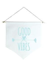 Wall Flag (estandarte) Azul Good Vibes by Studio Mirabile
