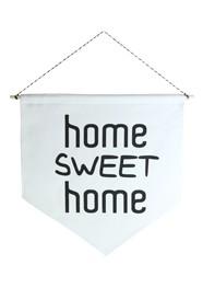 Wall Flag (Estandarte) Preta Home Sweet Home by Studio Mirabile