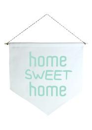 Wall Flag (Estandarte) Verde Home Sweet Home by Studio Mirabile
