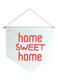 Wall Flag (Estandarte) Vermelha Home Sweet Home by Studio Mirabile