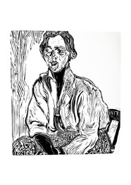 Xilogravura Ref. Anita Malfatti- A Estudante by Rafael Cão (53 cm x 48 cm)