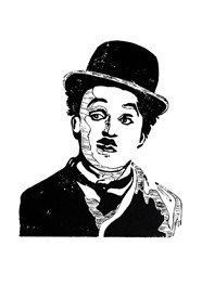 Xilogravura - Charlie Chaplin - by Nei Vital e o Cordel Urbano (40 x 50cm)