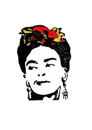 Xilogravura - Frida Kahlo - by Nei Vital e o Cordel Urbano (40 x 50cm)