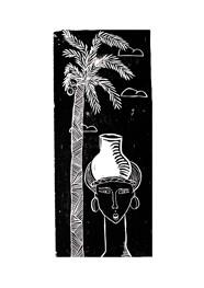 Xilogravura Jarro by Mangarataia (21 cm x 46 cm)
