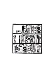 Xilogravura Prateleira de Livros by Cão (35 cm x 35 cm)