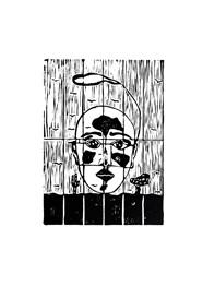Xilogravura - Rosto - by Nei Vital e o Cordel Urbano (40 x 50cm)