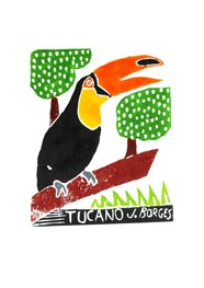 Xilogravura Tucano by J.Borges (24 cm x 33 cm)
