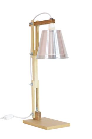 Luminária de Mesa Coleção Sixties Prata